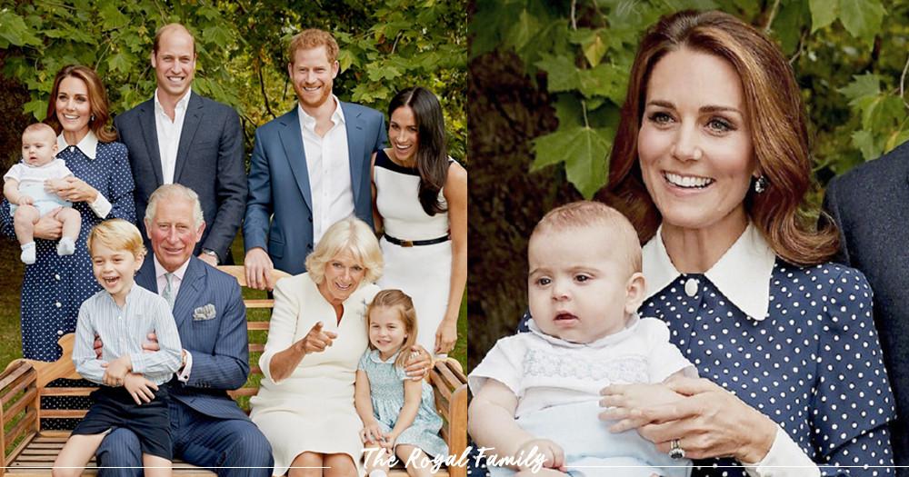 【셀럽TV】 4월에 태어난 뽀시래기 루이스 왕자가 대중 앞에 공개적으로 선 순간! 새로운 영국 왕실의 가족사진이 공개됐어!