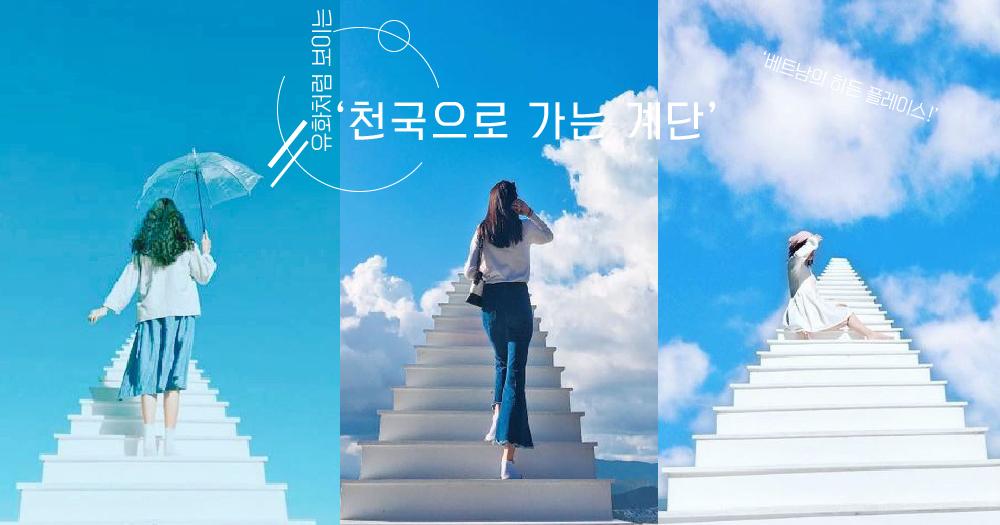 【오늘은여기】 베트남의 가장 유명한 인생샷 스팟, '천국으로 가는 계단'! 유화처럼 보이는 풍경, 하얀 계단이 천국으로 뻗는 곳