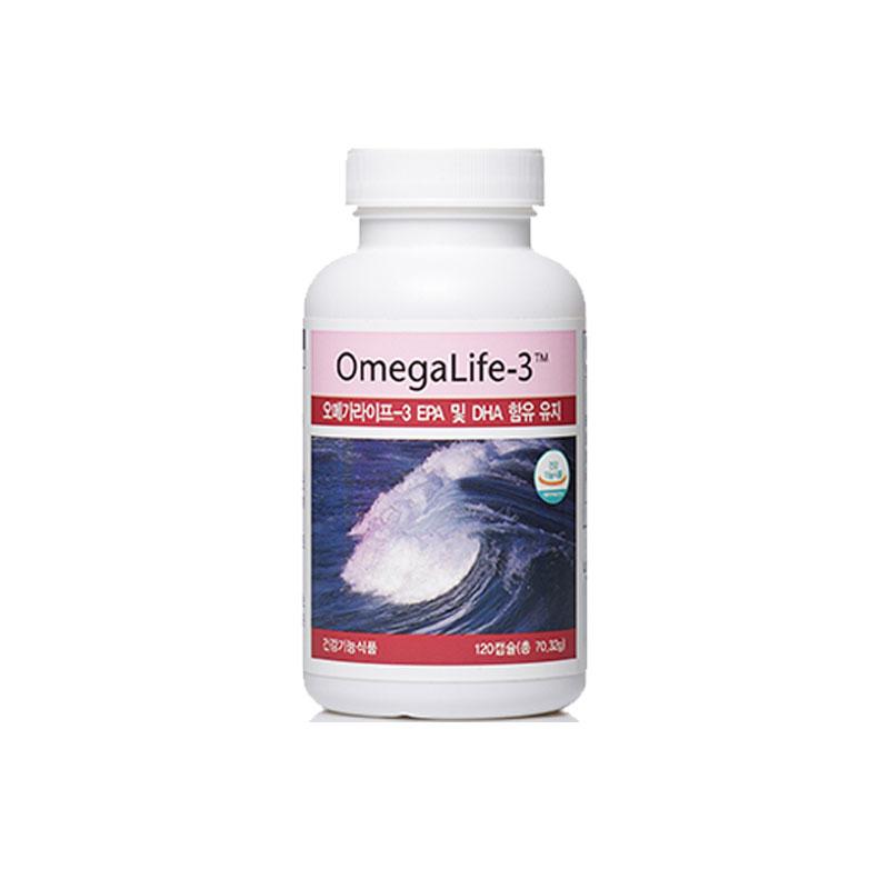 오메가라이프 - 3 EPA 및 DHA 함유 유지