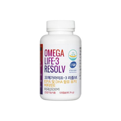 오메가라이프 - 3 리졸브 EPA 및 DHA 함유 유지
