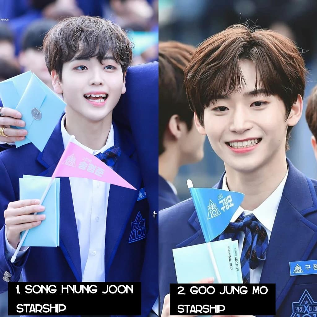 this is the top 11 Mnet 'Produce X 101' trainee based on twitter voting!