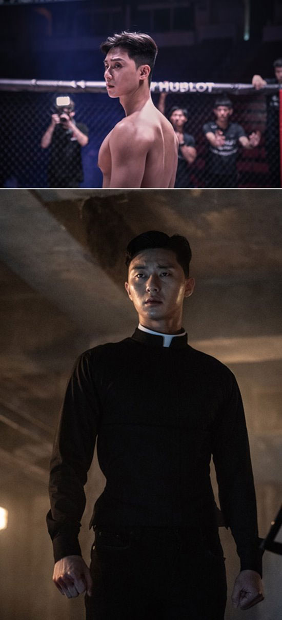 [K-Movie]: Park Seo Joon Shows off His Body in Upcoming Movie 'The Divine Fury'