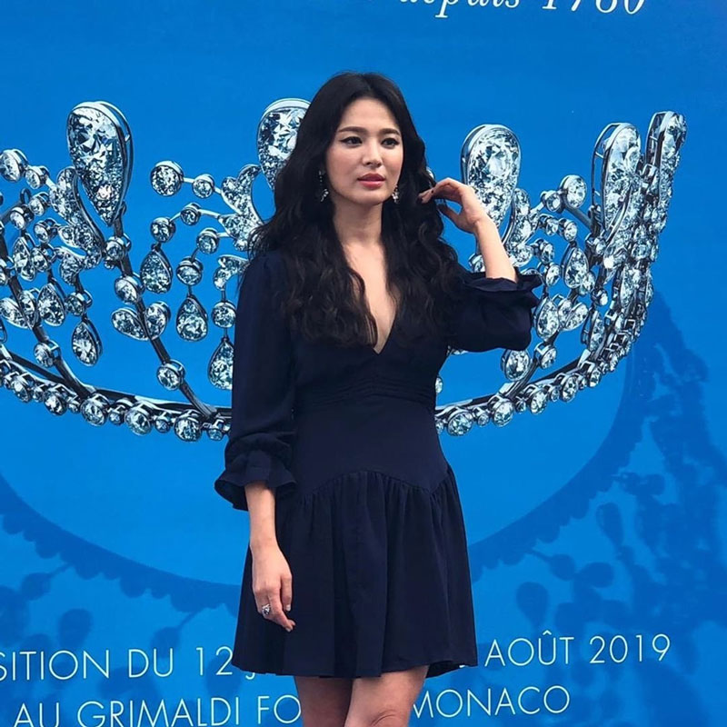 [K-Star]: Just Photos of Song Hye Kyo at Jewelry Brand Chaumet's Event in Monaco Today
