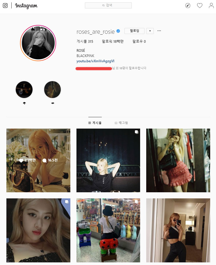 BLACKPINK's Rosé has Just Updated Her Instagram Profile and