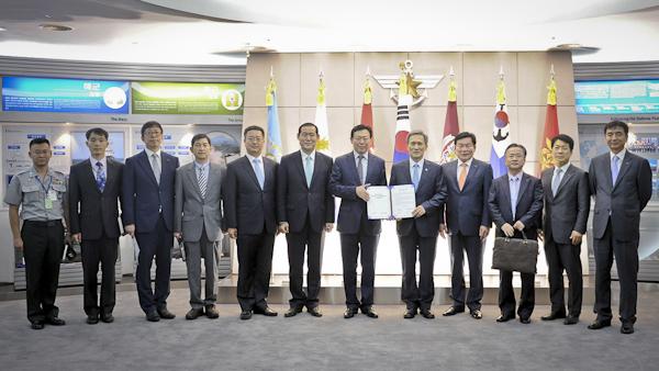 체결식에 참여한 롯데그룹 임직원과 국방부 임원 일동