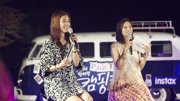 진행을 맡은 박신혜와 박세영.
