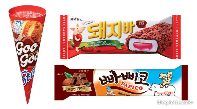 롯데푸드 빠삐코 & 돼지바 & 구구 아이스크림
