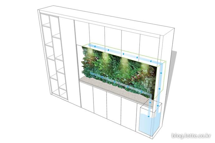 식물이 잘 자랄 수 있는 환경을 모두 갖춘 '빌트인 팜 퍼니쳐'