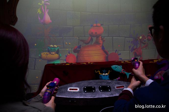 드래곤 와일드 슈팅 게임 장면
