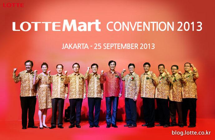 인도네시아 협력업체 관계자들과 화이팅을 외치는 롯데마트 노병용 사장