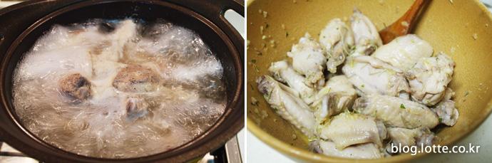 닭날개와 닭봉 삶기