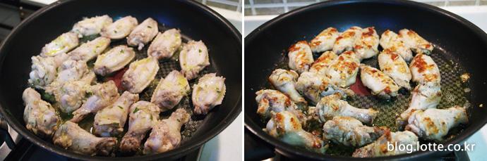 닭날개와 닭봉 굽기