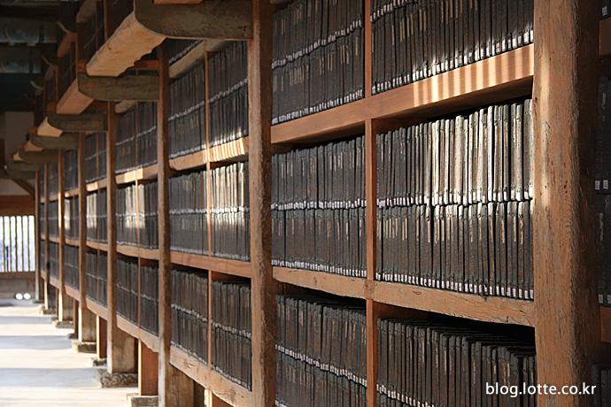 해인사에 보관된 세계문화유산 '팔만대장경'