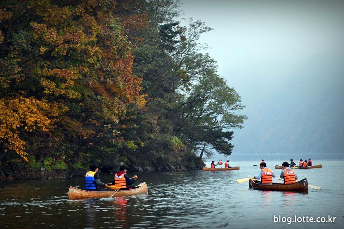 춘천 의암호 물레길을 따라가는 카누 투어