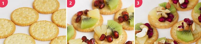 견과류 과일 카나페 만드는 과정