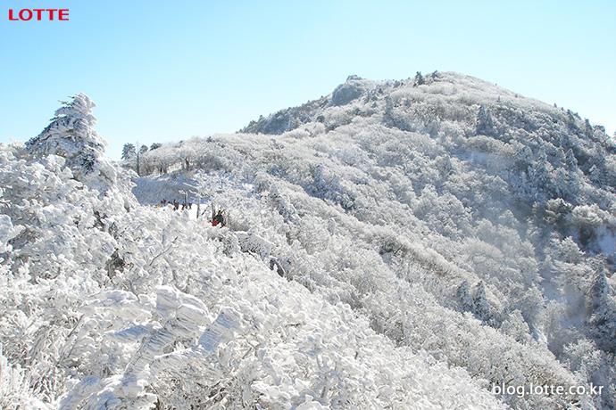 겨울 덕유산의 모습