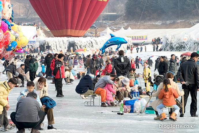 인제빙어축제 모습