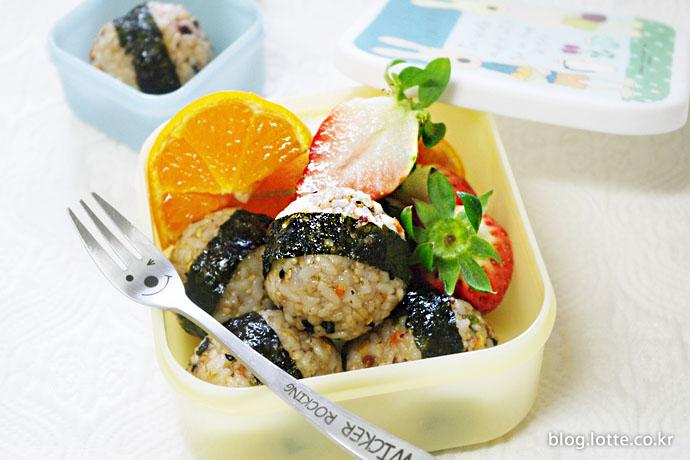 캠핑요리 주먹밥 완성