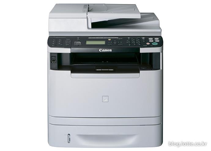 전문 흑백 레이저 복합기인 「MF6150/6156 dw」의 모습