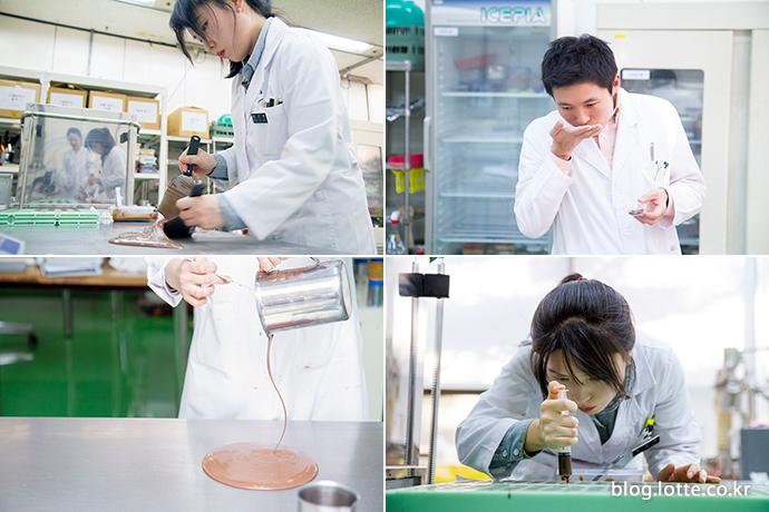 연구에 열중인 롯데중앙연구소 제과부문 디저트팀 초콜릿 연구원