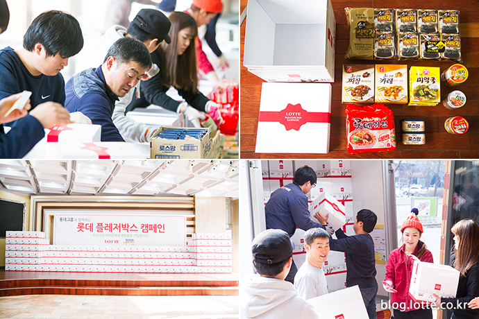 작업에 열중한 자원봉사자들의 뜻깊은 결과물