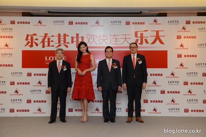 중국에서 개쵀한 롯데면세점 로드쇼