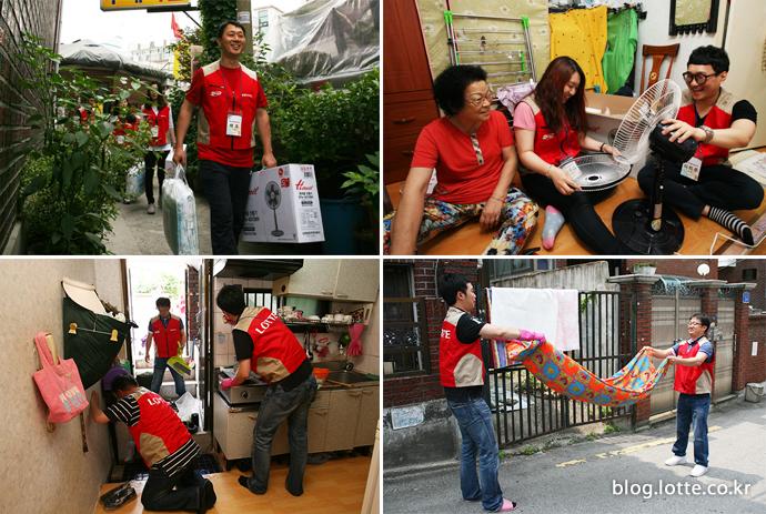 하이마트 봉사단 '착한바람 캠페인' 진행 모습