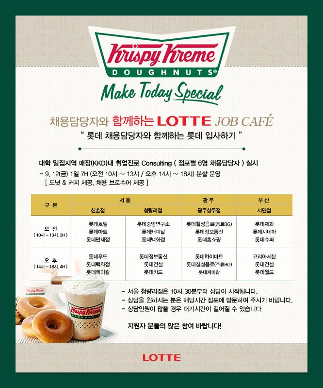 2014년 하반기 롯데 잡 카페 포스터