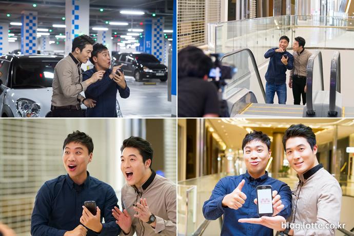 스마트 서비스를 소개하는 개그맨 이상준과 소셜팬 신승현