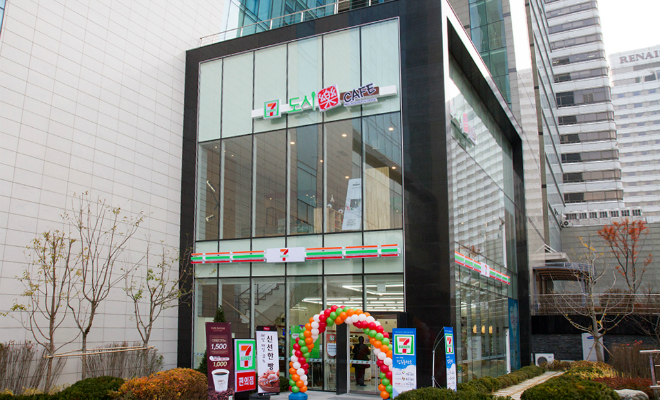 세븐일레븐, 신개념 푸드스토어 도시락카페 'KT강남점' 오픈