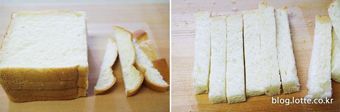식빵 빼빼로 만들기 과정 이미지 1
