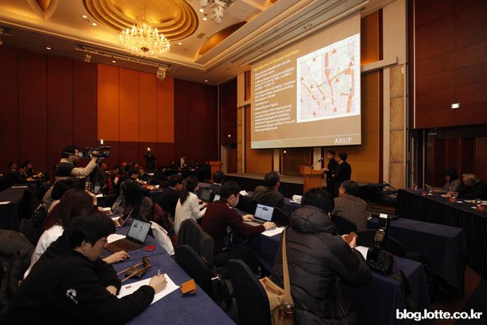 제2롯데월드안전관리위는구조안전성에대해시공기술발표회를가졌다