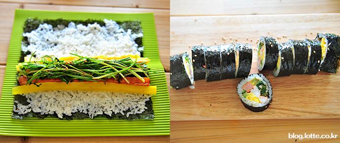 봄나물김밥