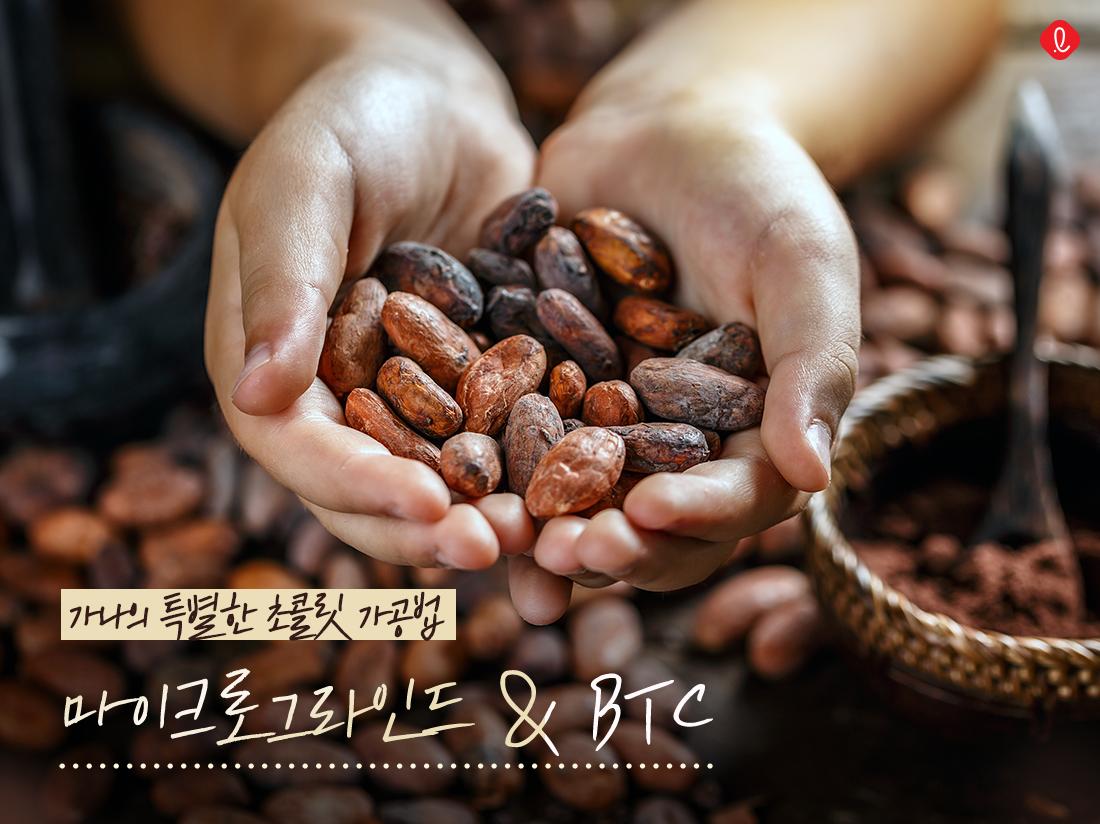 마이크로그라인드 BTC 초콜릿가공법 가나초콜릿 가나초콜렛 가나마일드 가나마일드초콜릿 가나밀크