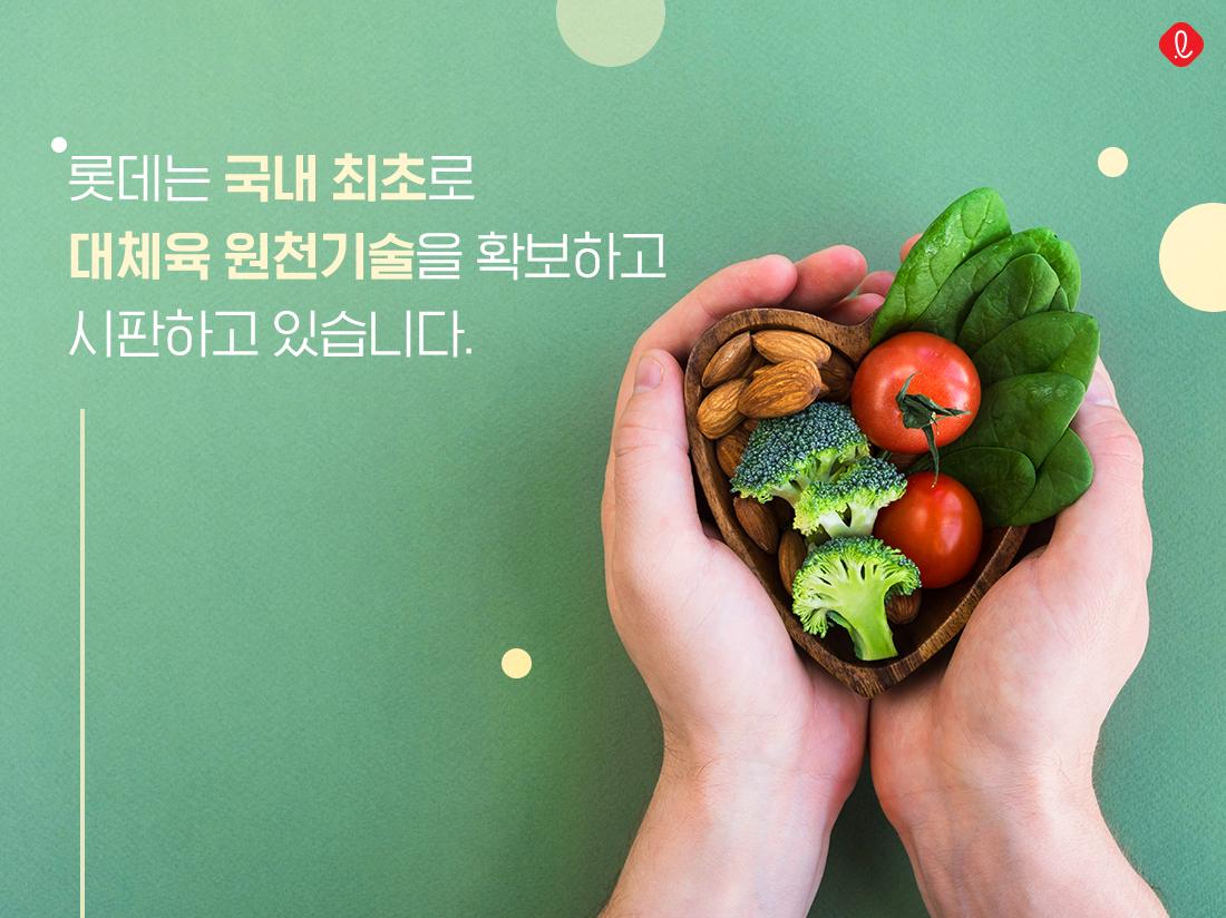 대체육 원천기술 롯데푸드 롯데지알에스 롯데쇼핑 코리아세븐