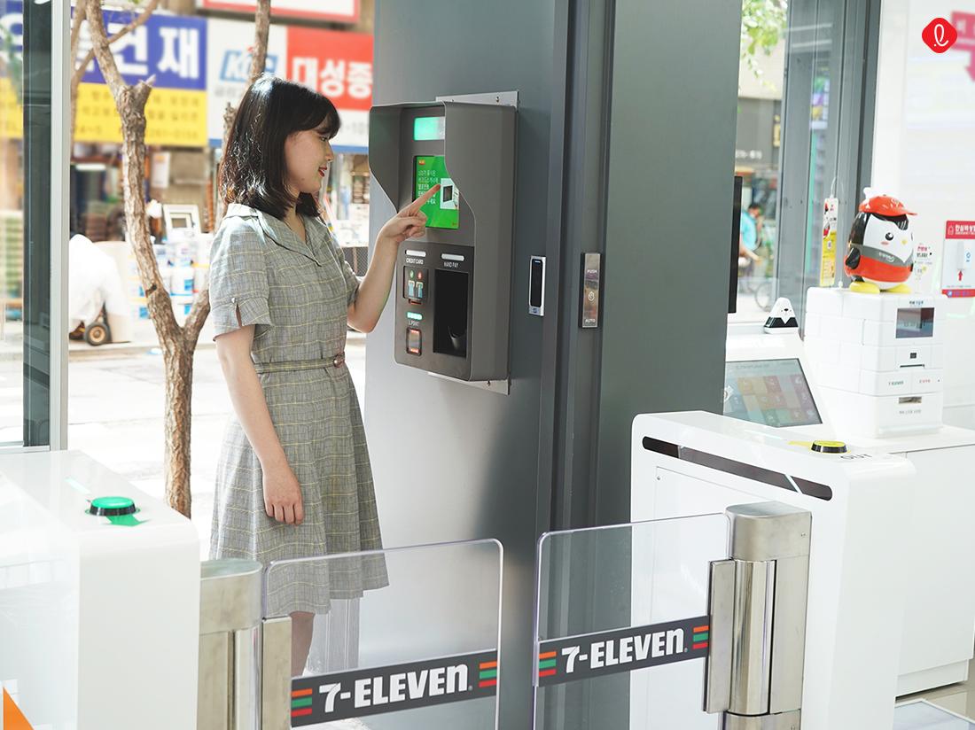 세븐일레븐 시그니처 3.0 이중 게이트 스마트CCTV 브니 셀프계산 디지털 스마트 담배자판기