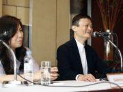 펑 사브리나 알리페이 인터내셔널 회장(왼쪽)과 마윈 알리바바그룹 창업주(회장)