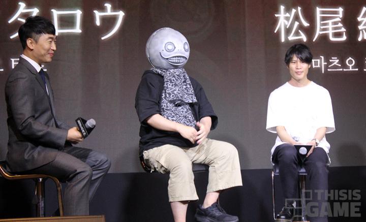 왼쪽부터 성승헌 캐스터, 요코오 타로 크리에이티브 디렉터, 마츠오 료키 수석 크리에이티브 플래너
