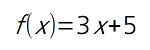 f(x) = 3x + 5