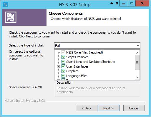 NSIS 배포 인스톨러의 설치 옵션