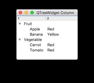 QTreeWidgetItem Column 사용 - 예제로 배우는 PyQt