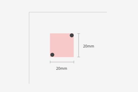 Printing price differ according to print area