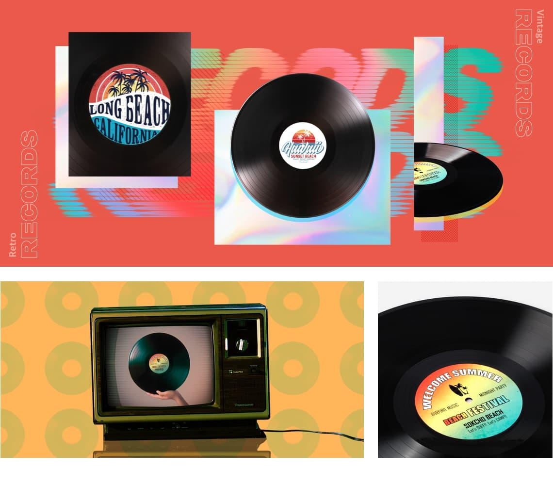 Vinyl Record Label_특징1