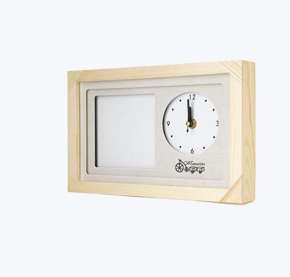 캐나다 원목 시계액자 표지