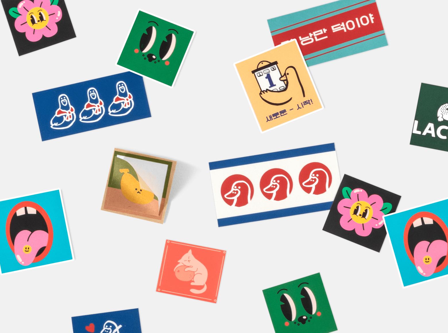 사각반칼스티커-롤링배너 슬라이드2