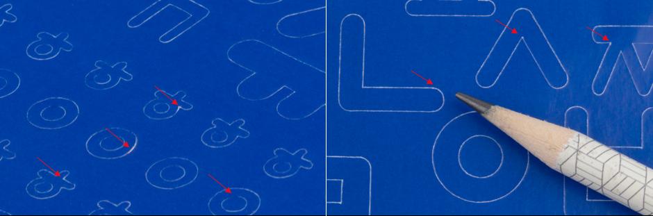 레드 스티커  :  반칼 커팅 형태는 이렇게 생겼어요.