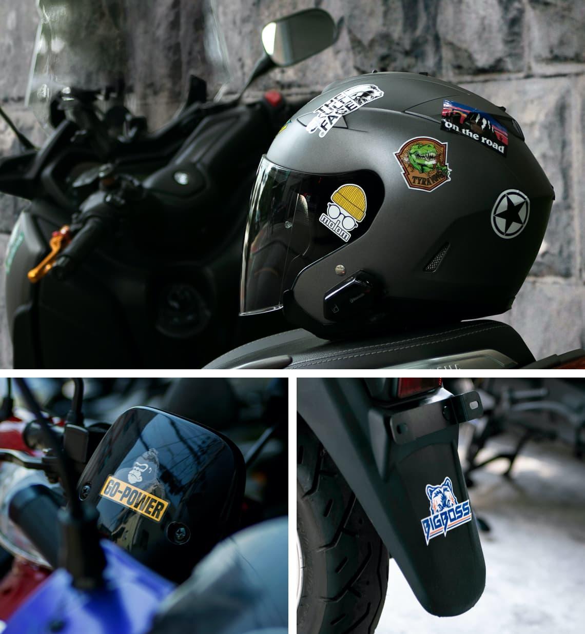 오토바이 스티커 표지
