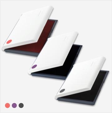 3가지 잉크 컬러(빨강/청보라/검정)