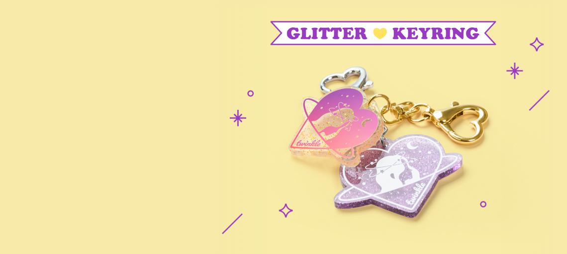 Glitter Acrylic Keyring