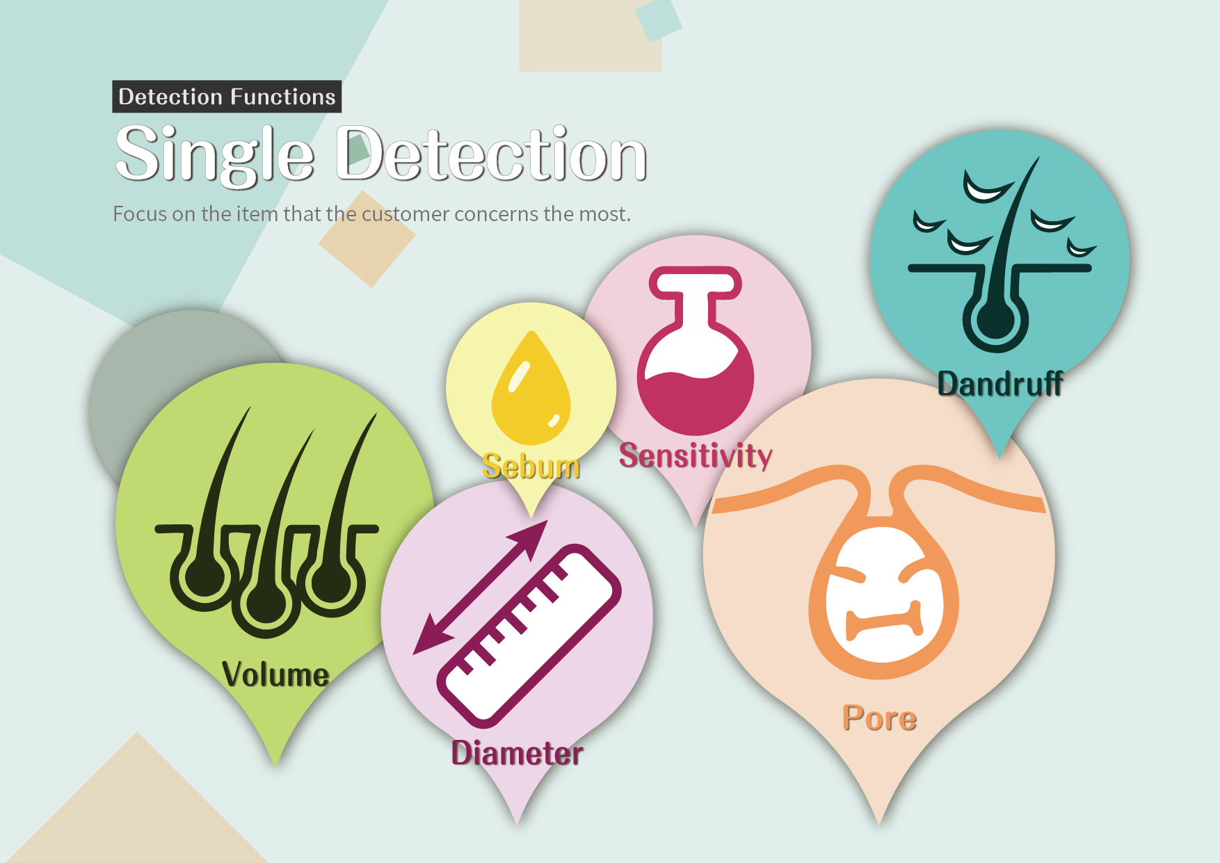 Single Detection: Focus on the item that the customer concerns the most.